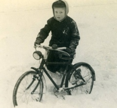 Christopher Butt in the Snow 1947
