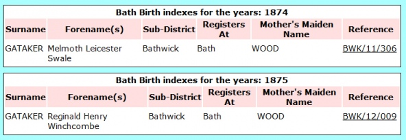 Bath Birth Index Record