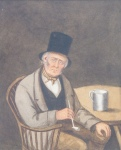 Joseph BURGE, with clay pipe and tankard (Somerset cider?)